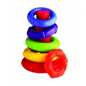 Конус с цветни рингове PlayGro