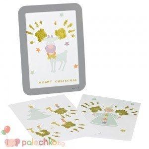 Рамка за отпечатък с боички за Коледа BabyArt
