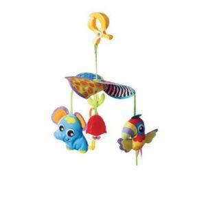 Въртележка за количка PlayGro Слон-Папагал