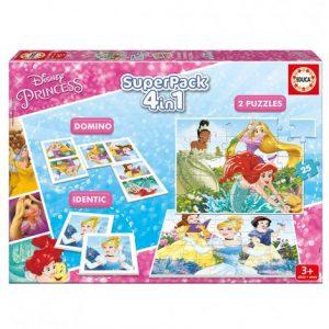 Комплект 4в1 Educa Superpack Disney Princess