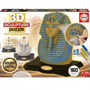 Пъзел 3D Educa Тутанкамон Gold&Blue