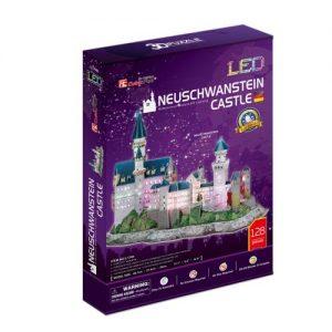 3D Пъзел с LED светлини CobicFun Neuschwanstein Castle