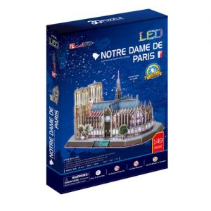 3D Пъзел с LED светлини CobicFun Notre Dame De Paris