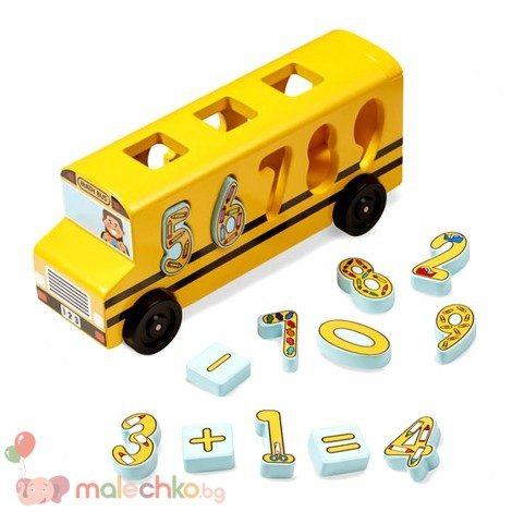 Дървен автобус сортер с цифри Melissa&Doug