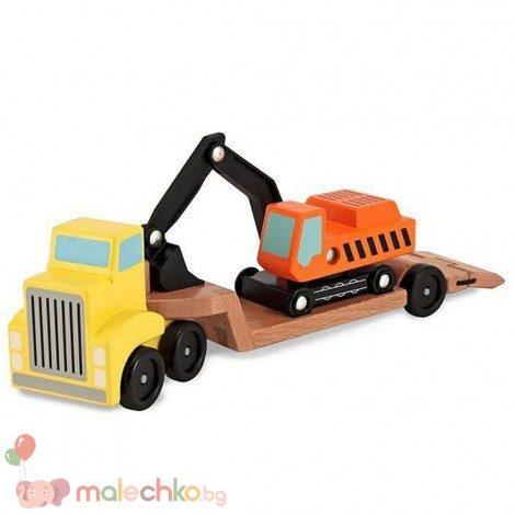 Дървен багер и камион Melissa&Doug