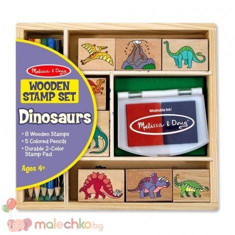 Дървени печати Динозаври Melissa&Doug