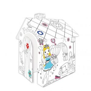 Картонена къща за оцветяване Princess Mochtoys