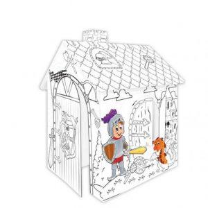 Картонена къща за оцветяване Рицар Mochtoys