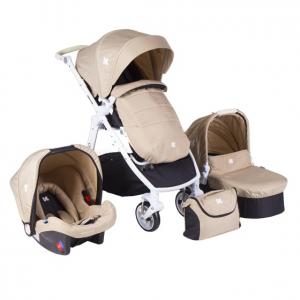Комбинирана бебешка количка 3в1 Kika Boo UGO Beige