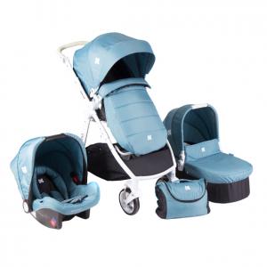 Комбинирана бебешка количка 3в1 Kika Boo UGO Blue