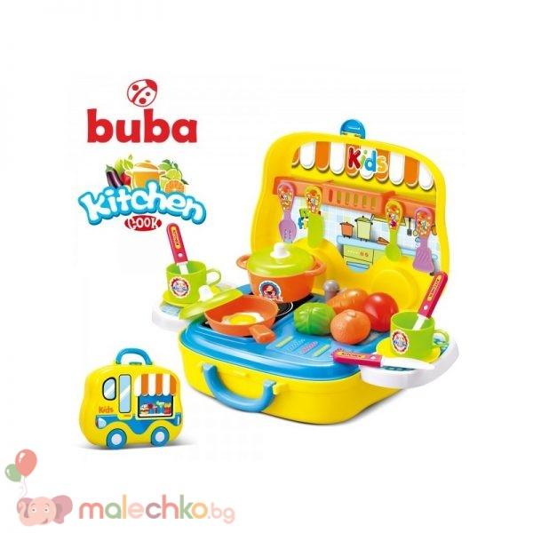 Малка детска кухня Buba Kitchen Cook Жълта