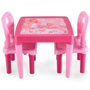 Масичка с 2 стола Pilsan Розова