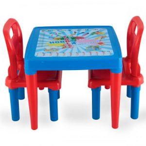 Масичка с 2 стола Pilsan Синя