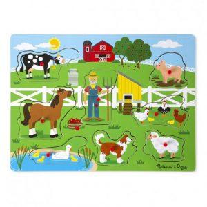 Пъзел със звуци Фермата на Макдоналдс Melissa&Doug