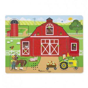 Пъзел със звуци Около фермата Melissa&Doug