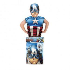 Тениска с маска Rubies Капитан Америка