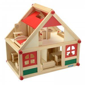 Дървена къща за кукли с аксесоари Beluga