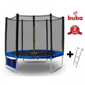 Детски батут с мрежа и стълба Buba 8FT