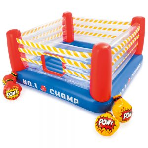 Детски надуваем батут Боксов ринг INTEX Jump-O-Lene