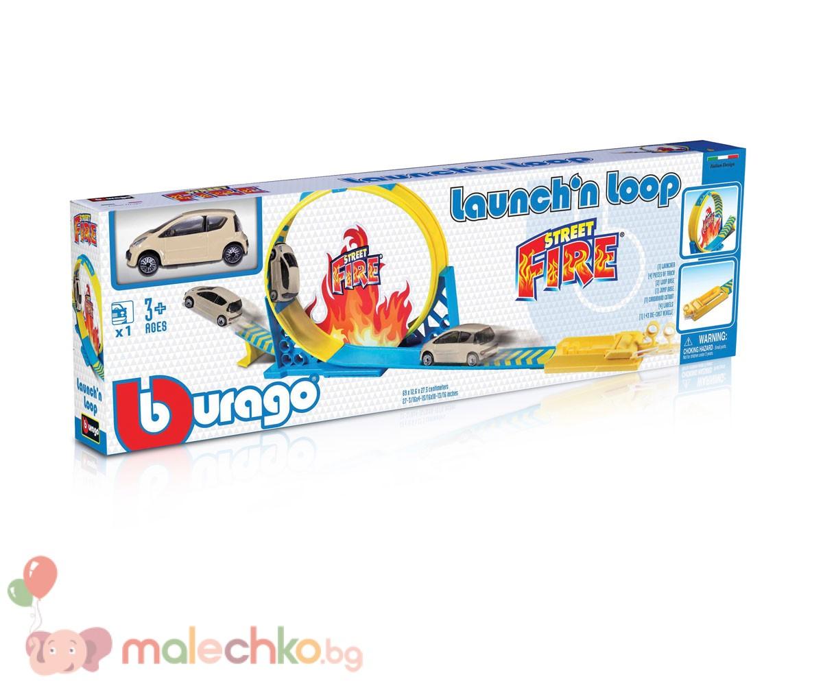 Изстрелвачка с писта и лупинг Bburago Street Fire ...