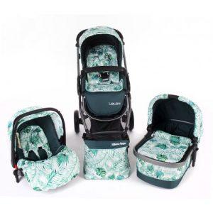 Комбинирана бебешка количка 3в1 Kika Boo Leilani Leaves