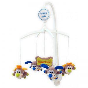 Музикална въртележка за кошара BabyMix Кученца