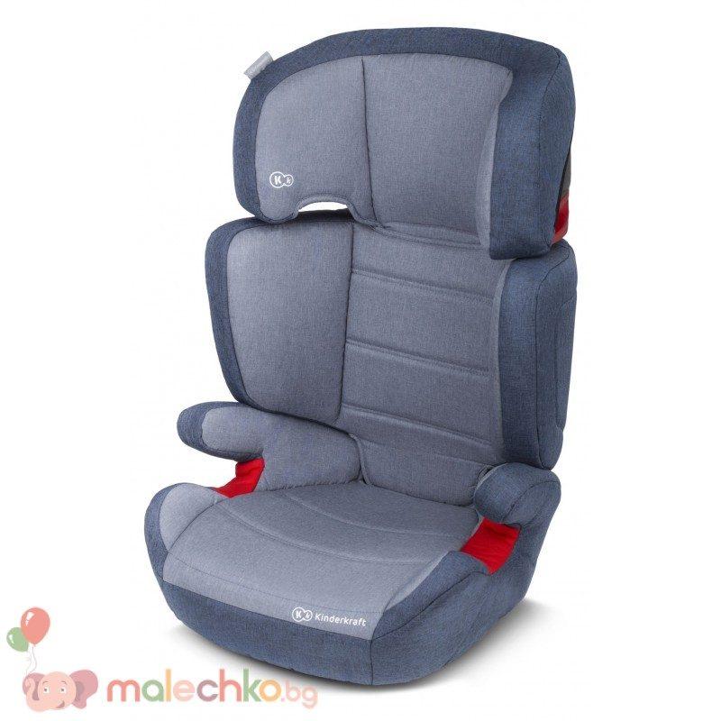 Столче за кола KinderKraft Junior Plus Синьо
