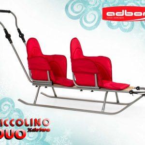 Шейна за близнаци Adbor Piccolino Xdrive Червена