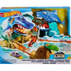 Игрален комплект Hot Wheels Битка с акула и количка