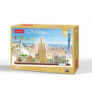 Пъзел 3D CobicFun City Line Barcelona