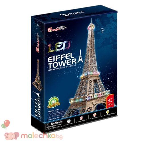 Пъзел 3D с LED светлини CobucFun Eiffel Tower